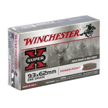 Boite de balles Winchester 9.3X62 Power point