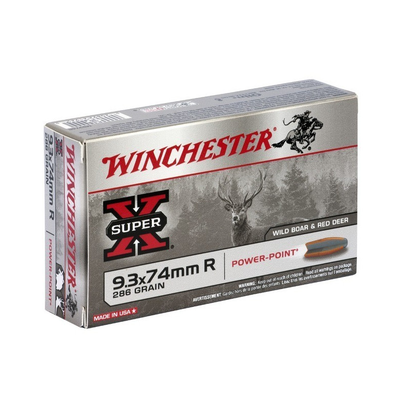 Boite de balles Winchester 9.3X74R Power point