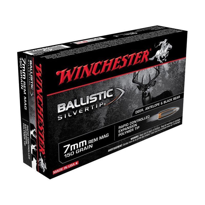 Boite de balles Winchester 7mm REM Ballistic Silvertip