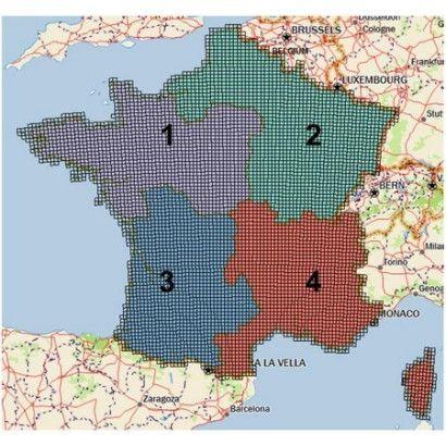 CARTOGRAPHIE 1/4 DE FRANCE TEK 2.0